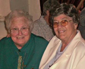 Sr. Dolores Fowler with her good friend Sr. Ann Carmel Badalamente