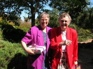 Sr. Margaret enjoying an outing with her dar sister, Sr. Pat Hoffman.