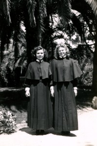 Sr. Lucy Holguin with Sr. Ruth as Postulants.