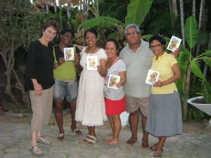 Marlene DeNardo (left) with Sisters and friends in Brazil.