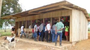 Inauguration event for Escuela Ruben Darío, Los Baldes, Nicaragua