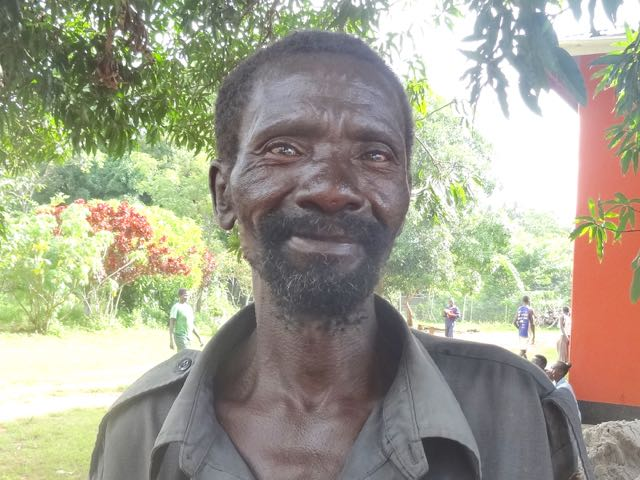 This man works at the farm created as a project of Solidarity With South Sudan.