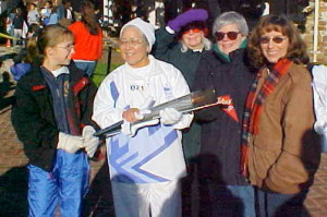 In 2002, Sr. Rosa Dolores carried the Olympic torch through part of Santa Cruz, California.