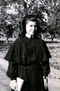 Sr. Lucy Holguin as a Postulant
